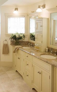 love the double mirror with the double sink