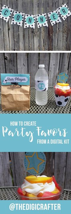 how to create party favors from a digital kit