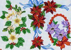 natale fiori rossi viola - magiedifilo.it punto croce uncinetto schemi gratis hobby creativi