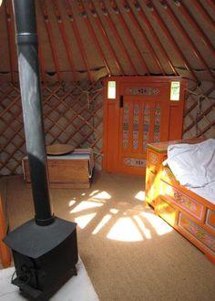 Yurt with Mongolian interior style/design.