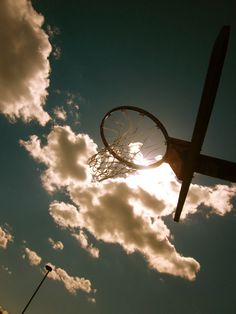 Basketball in the clouds
