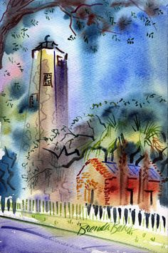 """""""Old Baldy"""" watercolor, Bald Head Island, NC - Brenda Behr - Picasa Web Albums Bald Head Island, Outer Banks Nc, Bald Heads, Prevent Hair Loss, Behr, Illustration Art, Art Illustrations, In This World, Albums"""