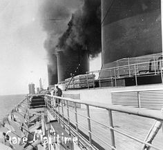 The SS Normandie on her maiden voyage. Ss Normandie, Beautiful Ocean, Cruise Ships, His Travel, Ways To Travel, Tall Ships, Normandy, Titanic, Vintage Travel