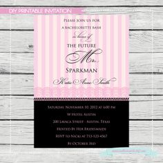 Bachelorette Shower Invitation  Digital File by SouthernSwish, $15.00