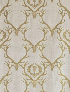deer damask | fabric and cushions Dining room chairs