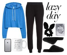"""""""Sleep In: Lazy Day"""" by vany-alvarado ❤ liked on Polyvore featuring ATM by Anthony Thomas Melillo, J.Crew, Topshop, OtterBox and LazyDay"""