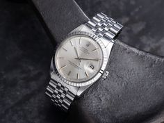 Rolex Datejust 1603 silver dial Vintage Rolex, Vintage Watches, Gents Watches, Rolex Watches, Mens Watch Brands, Best Watches For Men, Rolex Datejust, Automatic Watch, Omega Watch