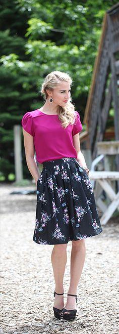 Chiffon Tulip Sleeve [MTF1841] - $34.99 : Mikarose Boutique, Reinventing Modesty