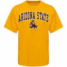 Arizona State Sun Devils Arched University T-Shirt - Gold