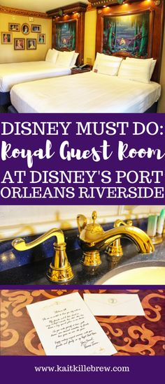 Feel like true royalty and treat yourself to a stay at the Royal Guest Rooms at Disney's Port Orleans Resort - Riverside! Disney World Florida, Disney World Parks, Disney World Planning, Disney World Vacation, Disney World Resorts, Disney Vacations, Disney Travel, Disney Honeymoon, Disney World Tips And Tricks