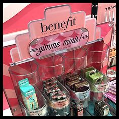 Benefit Mini-Sampler Countertop Display Retail Fixtures, Cosmetic Display, Silk Peonies, Lipstick Holder, Benefit Cosmetics, Clear Acrylic, Sephora, Countertops, Mini