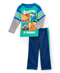 Another great find on #zulily! Green Finding Nemo Top & Pants - Toddler #zulilyfinds