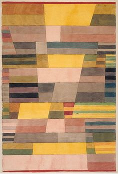 """ Paul Klee (1879-1940), Monument im Fruchtland, 1929. Watercolor and pencil on paper on cardboard, 45,7 x 30,8 cm """