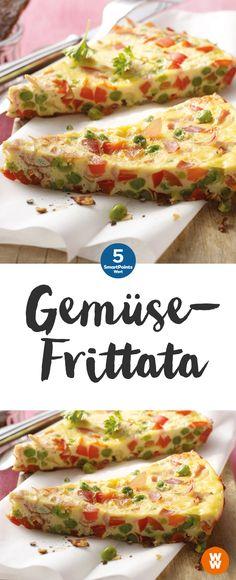 Bunte Gemüsefrittata | 4 Portionen, 5 SmartPoints/Portion, Weight Watchers, fertig in 35. min