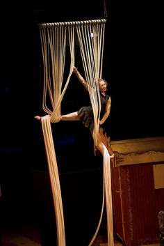 creativity in aerials. would love to find and watch this entire piece.. fascinated!  interesting apparatus