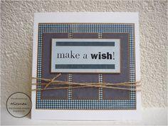 Miranda's Creaties - Mannenkaart #5 Make a wish