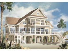Mediterranean House Plan with 5009 Square Feet and 4 Bedrooms from Dream Home Source | House Plan Code DHSW65547