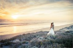 KristiAJ_Duo_066 | Bride and Groom on beach at sunset