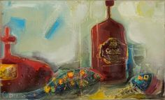 Cognac from Friend  - oil still life by O. Bryksa. www.les-art.com