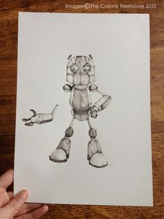 Broken Robot Illustration watercolour and by thecurioustreehouse, £89.99
