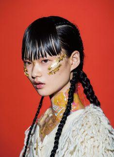 Portrait Photography Inspiration : sadfastens: modern weekly china september 2015 cong he Pelo Editorial, Makeup Art, Hair Makeup, Pretty People, Beautiful People, Fotografie Portraits, Portrait Photography, Fashion Photography, Photographie Portrait Inspiration