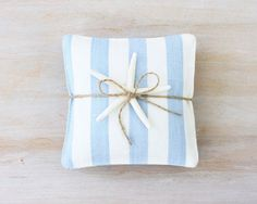 Blue & White French Ticking Lavender Sachets by BailiwickStudio