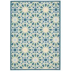 Sun and Shade Porcelain Rectangular: 5 Ft 3 In x 7 Ft 5 In Rug