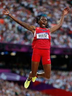 Brittney Reese    Brittney Reese won the women's long jump on Wednesday, Aug. 8 as US teammate Janay Deloach took home the bronze.