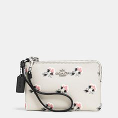 CORNER ZIP WRISTLET IN PRINTED CROSSGRAIN LEATHER by COACH