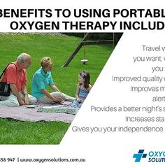 Find your freedom to breathe anywhere, anytime without managing oxygen refills or carrying heavy tanks. Here are some benefits of using Portable Oxygen Therapy!  Call us on 1300 558 947 to learn more about portable oxygen concentrators and other Oxygen Solutions.