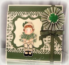 from crayons to Copics: card making ideas, free designs: Tilda with Clover
