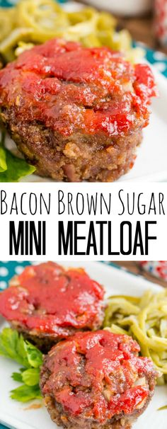 A fun single serving dinner recipe this Brown Sugar Mini Meatloaf is a smokey and sweet mean that is perfect for the whole family. I'm a huge meatloaf fan. I mean huge. I never knew that there were ac Mini Meatloaf Recipes, Bacon Meatloaf, Bacon Wrapped Meatloaf, Meat Recipes, Dinner Recipes, Dinner Ideas, Mini Meatloaf Muffins, Italian Meatloaf, Recipes