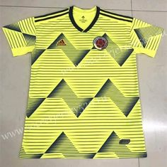 2019 Colombia Home Yellow Thailand Soccer Jersey Team Soccer Jersey AAA Premier League, Fifa, Adidas Colombia, World Cup Jerseys, Jersey Atletico Madrid, Football Jackets, Customise T Shirt, Team Uniforms, America's Cup