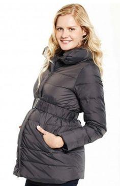 6fae24e87 Anorac parka premamá plumas GRIS ANTRACITA abrigo premamá para embarazada   I1400  - 179