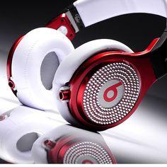 Monster Beats Pro Rhodoleucus With White Diamond Headphones [MonsterBeatsPro013] - $200.75 :
