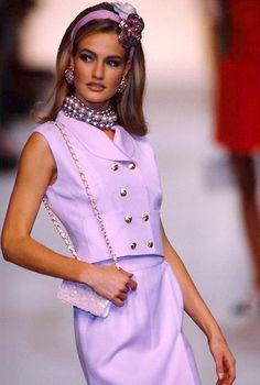 1991 Chanel ,perfection #fashion #purple