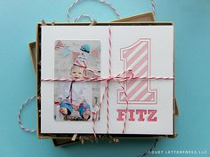 fitz first birthday invitation by duetletterpress, via Flickr