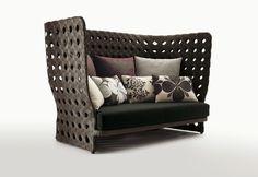 CANASTA sofa high back beach chair from Patricia Urquioia
