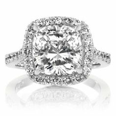 The smaller size of the surrounding diamonds is perfect!  Bigger ones take away from the center stone.
