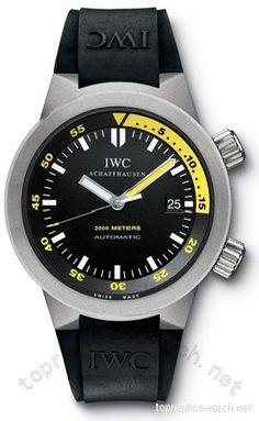 IWC Aquatimer Automatic 2000 Titanium Black Mens Watch 3538-04