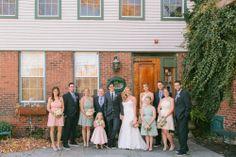 Rachel & Ben's Lace Factory Connecticut Wedding | Sweet Little Photographs #fallwedding