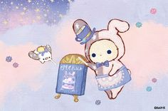 Sentimental Circus, Cartoon Town, Chibi Food, Cute Themes, Cute Characters, Sanrio Characters, Hello Kitty Wallpaper, Cute Disney Wallpaper, Cute Chibi