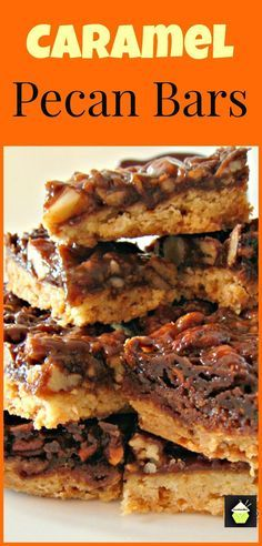 Caramel Pecan Bars. Easy to make and always popular!