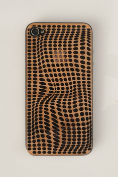 Lasercut iPhone cover. Cool idea and like the parametric wave pattern