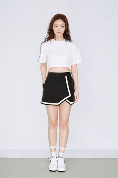 WHITE SLIT BACK CROP TOP by O!Oi