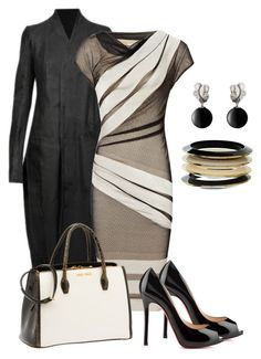 Black and White......... by grlowry on Polyvore featuring polyvore, fashion, style, Reiss, Rick Owens, Christian Louboutin, Miu Miu, Dorothy Perkins, Georg Jensen and clothing