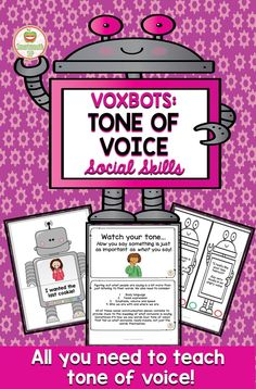 Working on the social skill of tone of voice? Voxbots will make this tough social concept easier with robot themed activities, teaching cards and extension ideas!