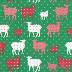 FABRIC -- laurie wisbrun modern whimsy lambs meadow, organic fabric -- comes in blue/green too