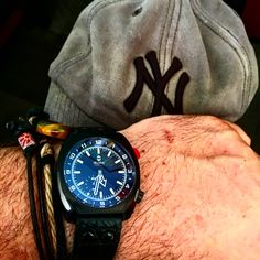 Helgray hornet. Classic aviation style paired with handmade bracelet. Adult style that's creative.