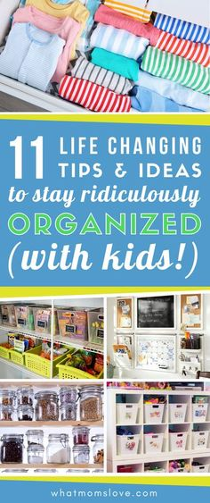Feeling overwhelmed? Learn tips for how to organize your life - including hacks and tricks to declutter your home (even kids' toys!), create a family command center, daily to do lists, meal planning and more easy ideas to organize your household. #organiz